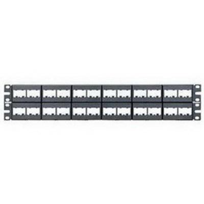 Panduit CPP48WBLY Panduit CPP48WBLY Mini-Com Flat Modular Patch Panel; Rack Mount, 48-Port, 2-Rack Unit, Black