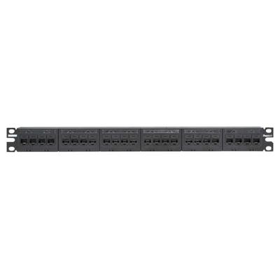 Panduit CPPK6G24WBL Panduit CPPK6G24WBL Mini-Com® Flat CAT 6 Patch Panel Kit; 24-Port, Black