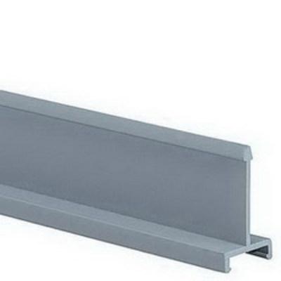 Panduit D4H6 Panduit D4H6 Panduct® Solid Divider Wall; 6 ft Length x 4 Inch Height, Light Gray, Lead Free PVC