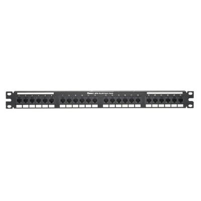 Panduit DP24688TGY Panduit DP24688TGY Category 6 Punchdown Patch Panel; Rack Mount, 24-Port, 1-Rack Unit, Black