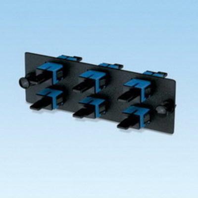 Panduit FAP6WBUSCZ Panduit FAP6WBUSCZ Opticom® SC Fiber Adapter Panel; Singlemode OS1/OS2, 6 Simplex Fibers, Blue