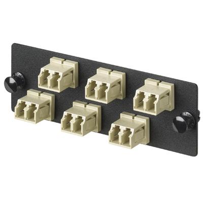Panduit FAP6WEIDLC Panduit FAP6WEIDLC Opticom® LC Fiber Adapter Panel; Rack/Wall Mount, Multimode, 6 Duplex Fibers, Electric Ivory