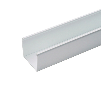 Panduit FS2X2WH6NM Panduit FS2X2WH6NM Panduct&reg Base Solid Wall Raceway; 6 ft Length x 2.250 Inch Width x 2.120 Inch Height, Lead Free PVC, White