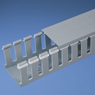 Panduit G1X2LG6 Panduit G1X2LG6 Type G Wide Slot Wiring Duct; 1 In x 2 In x 6 Ft, Gray