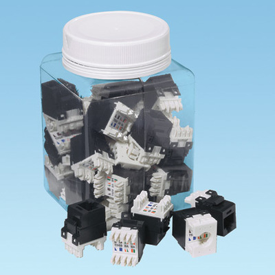 Panduit NKP5E88MIW-Q Panduit NKP5E88MIW-Q NetKey® Category 5e/Class D Keystone Jack Module; 8P, Off White, 25/Pack
