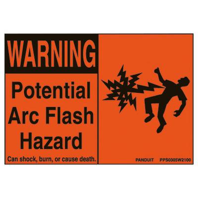 Panduit PPS0305W2100 Panduit PPS0305W2100 Arc Flash Hazard Safety Sign; 3.5 In x 5 In