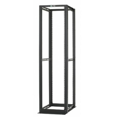 Panduit R4P Panduit R4P Adjustable 4-Post Rack; 84 Inch Height x 23.3 Inch Width x 30 Inch Depth, Steel, Black, For Supporting Network Equipment