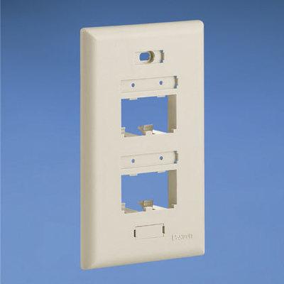 Panduit UICFP4EI Panduit UICFP4EI Mini-Com® Ultimate ID® 1 Gang Classic Series Faceplate; 4-Port, Screw Mount, ABS, Electric Ivory