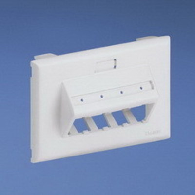 Panduit UIT70FH4IW Panduit UIT70FH4IW Mini-Com® Ultimate ID 1-Gang Sloped Faceplate; PVC, Off White