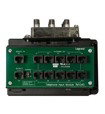 Pass & Seymour Inc CO1045 On-Q CO1045 10 x 8 RJ45/F-Type Connector/RJ31X Combo Module; Black