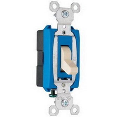 Pass & Seymour Inc CS15AC1I Pass & Seymour CS15AC1-I Heavy Duty Grade Toggle Switch; 1-Pole, 120/277 Volt AC, 15 Amp, Ivory