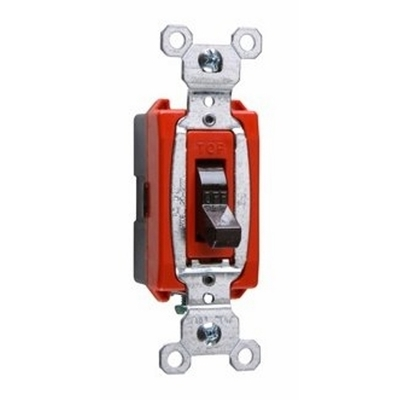 Pass & Seymour Inc CS20AC1 Pass & Seymour CS20AC1 Heavy Duty Grade Toggle Switch; 1-Pole, 120/277 Volt AC, 20 Amp, Brown