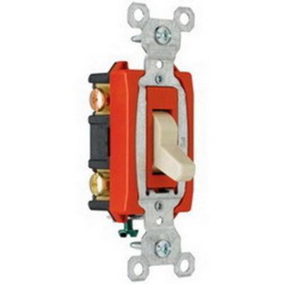 Pass & Seymour Inc CS20AC3I Pass & Seymour CS20AC3-I Specification Grade 3-Way Toggle Switch; 3-Pole, 120/277 Volt AC, 20 Amp, Ivory