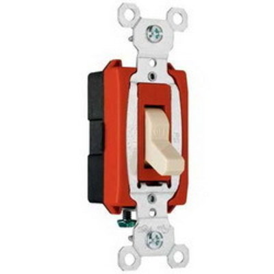 Pass & Seymour Inc CSB20AC1I Pass & Seymour CSB20AC1-I Commercial Hard Use Construction Switch; 1-Pole, 120/277 Volt AC, 20 Amp, Ivory