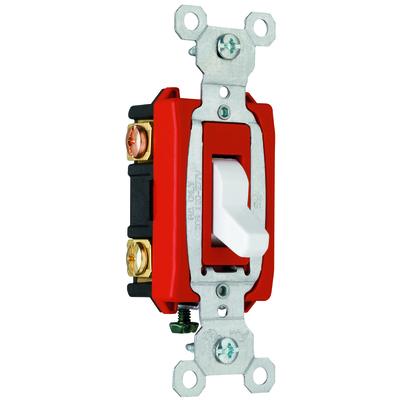 Pass & Seymour Inc CSB20AC3W Pass & Seymour CSB20AC3-W Specfication Grade Construction 3-Way Toggle Switch; 2-Pole, 120/277 Volt AC, 20 Amp, White
