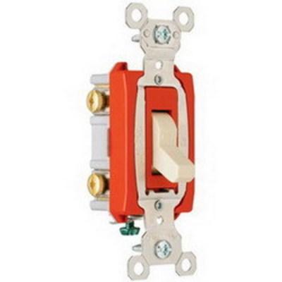 Pass & Seymour Inc PS20AC2I Pass & Seymour PS20AC2-I Extra Heavy Duty Grade Toggle Switch; 2-Pole, 120/277 Volt AC, 20 Amp, Ivory