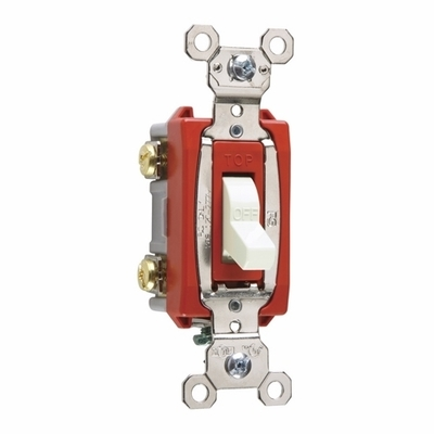 Pass & Seymour Inc PS20AC2W Pass & Seymour PS20AC2-W Extra Heavy Duty Grade Toggle Switch; 2-Pole, 120/277 Volt AC, 20 Amp, White