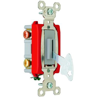 Pass & Seymour Inc PS20AC3L Pass & Seymour PS20AC3-L Extra Heavy Duty Grade Toggle Switch; 3-Pole, 120/277 Volt AC, 20 Amp, Gray