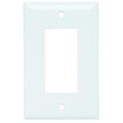 Pass & Seymour Inc SPJ26W Pass & Seymour SPJ26-W Decorator Plate; (1) Toggle, Thermoset Plastic, White
