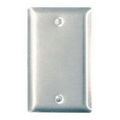 Pass & Seymour Inc SS13 Pass & Seymour SS13 1-Gang Standard-Size Mounted Blank Wallplate; Box Mount, Stainless Steel, Silver