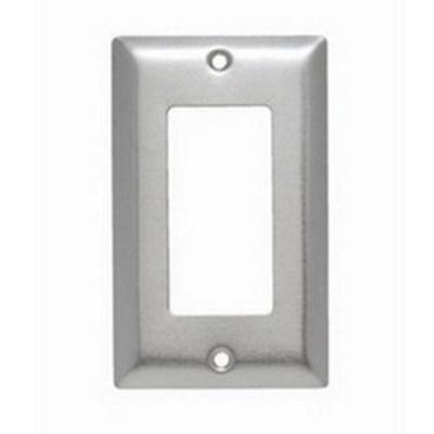 Pass & Seymour Inc SS26 Pass & Seymour SS26 1-Gang Standard-Size Decorator Wallplate; Wall Mount, Stainless Steel, Silver