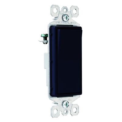 Pass & Seymour Inc TM870BK Pass & Seymour TM870-BK TradeMaster® Decorator Switch; 1-Pole, 120/277 Volt AC, 15 Amp, Black