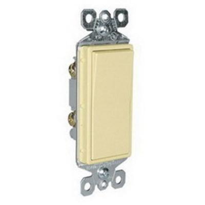 Pass & Seymour Inc TM870I Pass & Seymour TM870-I TradeMaster® Decorator Switch; 1-Pole, 120/277 Volt AC, 15 Amp, Ivory