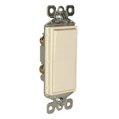Pass & Seymour Inc TM870LA Pass & Seymour TM870-LA TradeMaster® Decorator Switch; 1-Pole, 120/277 Volt AC, 15 Amp, Light Almond