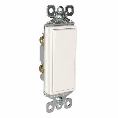 Pass & Seymour Inc TM870W Pass & Seymour TM870-W TradeMaster® Decorator Switch; 1-Pole, 120/277 Volt AC, 15 Amp, White