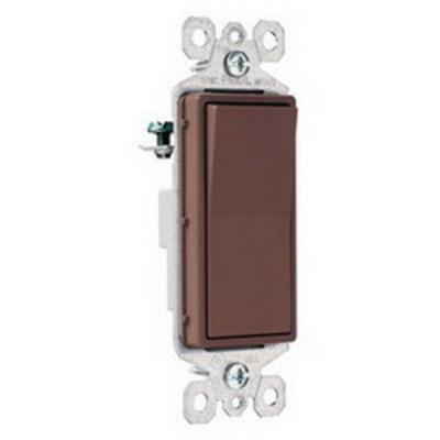 Pass & Seymour Inc TM870 Pass & Seymour TM870 TradeMaster® Decorator Switch; 1-Pole, 120/277 Volt AC, 15 Amp, Brown