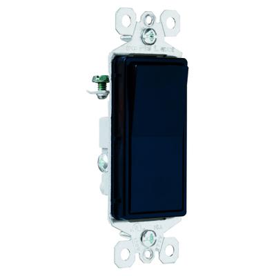 Pass & Seymour Inc TM873BK Pass & Seymour TM873-BK TradeMaster® Paddle 3-Way Decorator Switch; 120/277 Volt AC, 15 Amp, Black
