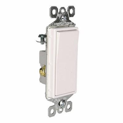 Pass & Seymour Inc TM873W Pass & Seymour TM873-W TradeMaster® Paddle 3-Way Decorator Switch; 120/277 Volt AC, 15 Amp, White