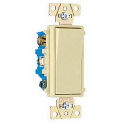 Pass & Seymour Inc TM874I Pass & Seymour TM874-I TradeMaster® 4-Way Decorator Switch; 120/277 Volt AC, 15 Amp, Ivory