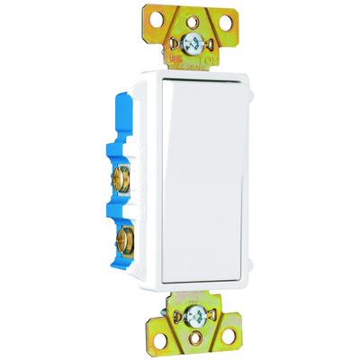 Pass & Seymour Inc TM874W Pass & Seymour TM874-W TradeMaster® 4-Way Decorator Switch; 120/277 Volt AC, 15 Amp, White