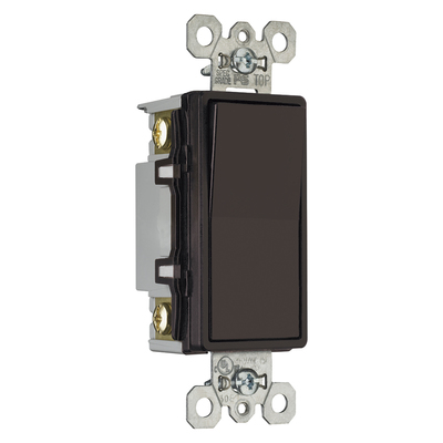 Pass & Seymour Inc TM874 Pass & Seymour TM874 TradeMaster® 4-Way Decorator Switch; 120/277 Volt AC, 15 Amp, Brown
