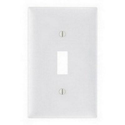 Pass & Seymour Inc TP1LA Pass & Seymour TP1-LA TradeMaster® 1-Gang Standard-Size Toggle Switch Wallplate; Wall Mount, Thermoplastic Nylon, Light Almond