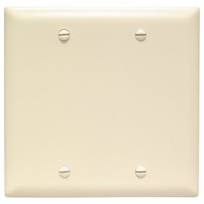 Pass & Seymour Inc TP23LA Pass & Seymour TP23-LA TradeMaster® 2-Gang Standard-Size Mounted Blank Wallplate; Box Mount, Thermoplastic, Light Almond