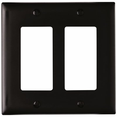 Pass & Seymour Inc TP262BK Pass & Seymour TP262-BK TradeMaster® 2-Gang Standard-Size GFCI Decorator Wallplate; Wall Mount, Nylon, Black