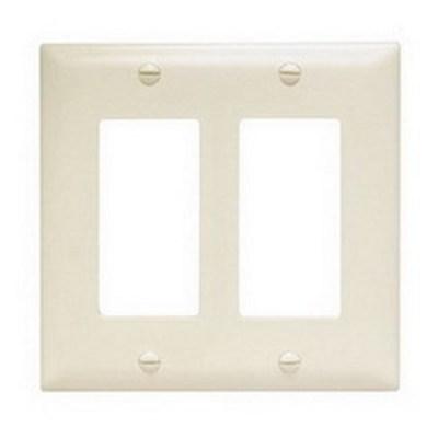 Pass & Seymour Inc TP262LA Pass & Seymour TP262-LA TradeMaster® 2-Gang Standard-Size GFCI Decorator Wallplate; Wall Mount, Nylon, Light Almond