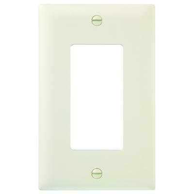 Pass & Seymour Inc TP26LA Pass & Seymour TP26-LA TradeMaster® 1-Gang Standard-Size GFCI Decorator Wallplate; Wall Mount, Nylon, Light Almond