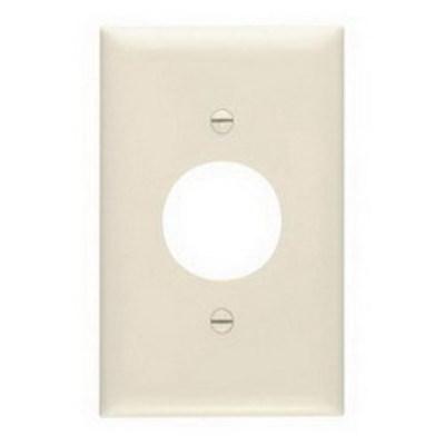 Pass & Seymour Inc TP7LA Pass & Seymour TP7-LA TradeMaster® Chemical Resistant 1-Gang Single Receptacle Plate; Wall Mount, Nylon, Light Almond