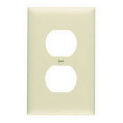 Pass & Seymour Inc TP8GRY Pass & Seymour TP8-GRY TradeMaster® Chemical Resistant 1-Gang Duplex Receptacle Wallplate; Wall Mount, Nylon, Gray