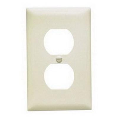 Pass & Seymour Inc TP8LA Pass & Seymour TP8-LA TradeMaster® Chemical Resistant 1-Gang Duplex Receptacle Wallplate; Wall Mount, Nylon, Light Almond