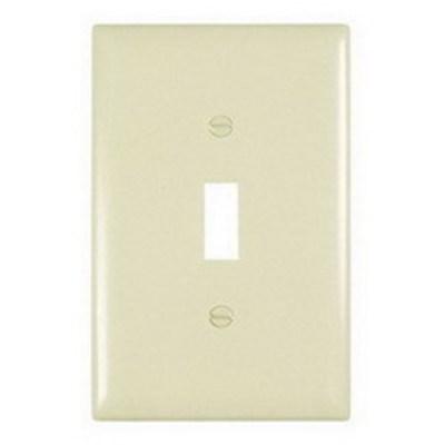 Pass & Seymour Inc TPJ1I Pass & Seymour TPJ1-I TradeMaster® 1-Gang Jumbo-Size Toggle Switch Wallplate; Wall Mount, Thermoplastic, Ivory