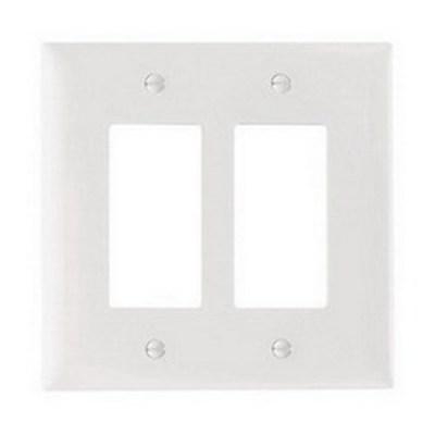 Pass & Seymour Inc TPJ262W Pass & Seymour TPJ262-W TradeMaster® 2-Gang Jumbo-Size Decorator Wallplate; Wall Mount, Nylon, White