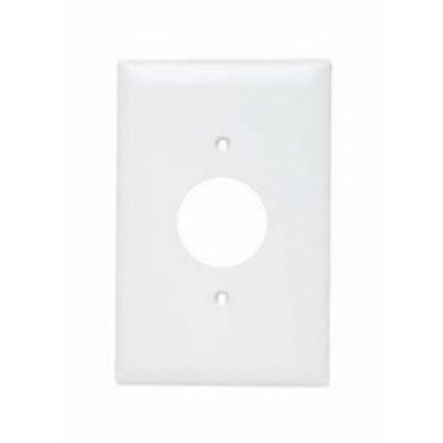 Pass & Seymour Inc TPJ7W Pass & Seymour TPJ7-W TradeMaster® Jumbo Size 1-Gang Single Receptacle Plate; Wall Mount, Nylon, White