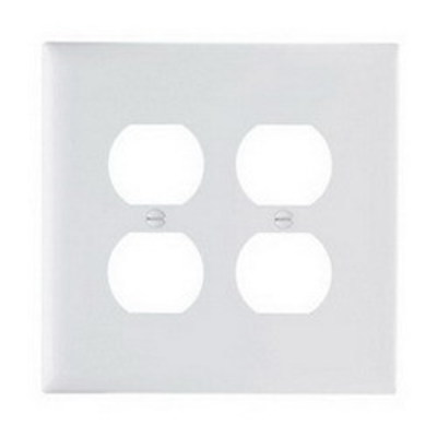 Pass & Seymour Inc TPJ82W Pass & Seymour TPJ82-W TradeMaster® 2-Gang Jumbo-Size Duplex Receptacle Wallplate; Wall Mount, Nylon, White