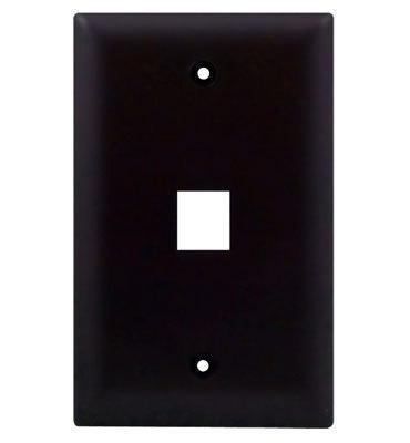Pass & Seymour Inc WP3401-BR On-Q WP3401-BR 1-Gang Wallplate; Wall Box, (1) Receptacle, (1) Keystone, High Impact Flame Retardant Plastic, Brown