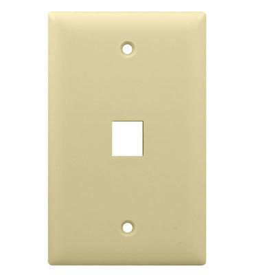 Pass & Seymour Inc WP3401-LA On-Q WP3401-LA 1-Gang Wallplate; Wall Box, (1) Receptacle, (1) Keystone, High Impact Flame Retardant Plastic, Light Almond