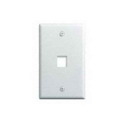 Pass & Seymour Inc WP3401-WH On-Q WP3401-WH 1-Gang Wallplate; Wall Box, (1) Receptacle, (1) Keystone, High Impact Flame Retardant Plastic, White